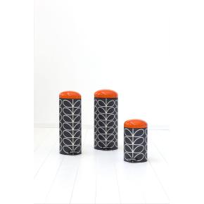 Brabantia Orla Kiely Pedalspand 12 liter, Charcoal