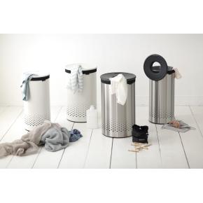 Brabantia vasketøjskurv, 60 liter, mat stål