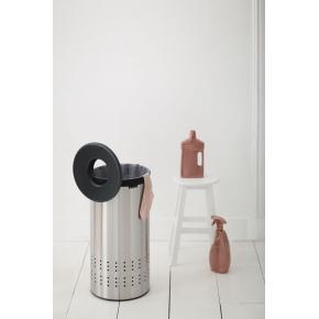 Brabantia vasketøjskurv, 35 l., mat stål