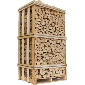 Lufttørret ask i brændetårn, ca. 1,8 m3