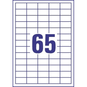 Budget Multi etiket, 38 x 21,2 mm