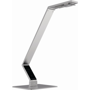 Luctra bordlampe linear m/bordfod aluminium