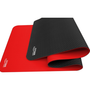 Titan Yoga Mat, sort & rød