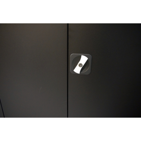 Værkstedsskab, 4 hylder, (BxDxH) 80x38x180cm, sort