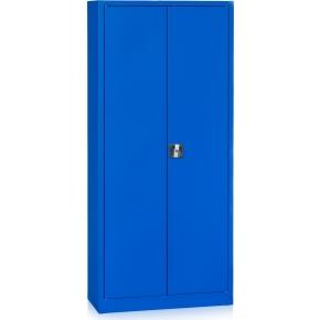 Værkstedsskab, 4 hylder, (BxDxH) 92x42x195cm, blå
