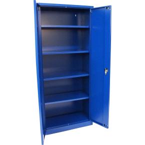 Værkstedsskab, 4 hylder, (BxDxH) 100x50x200cm, blå