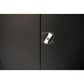 Værkstedsskab, 4 hylder,(BxDxH) 100x50x200cm, sort