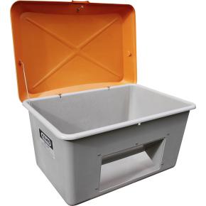 Salt-/sandbeholder 200 L, Bundåbning, Grå/orange