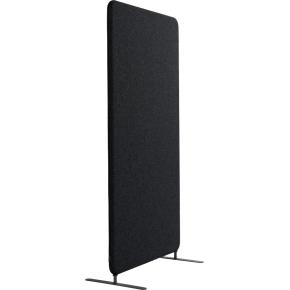 Softline Light skærmvæg 80x150 cm  sort inkl. ben