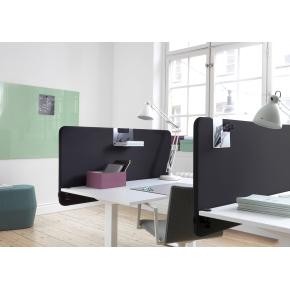 Softline Light bordskærmvæg 120x65 cm Sort