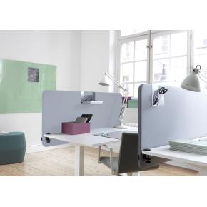 Softline Light bordskærmvæg 180x65 cm Lys grå