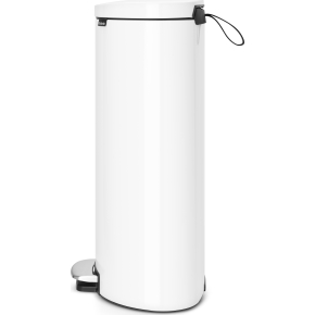 Brabantia Flatback Pedalspand 30 liter, hvid