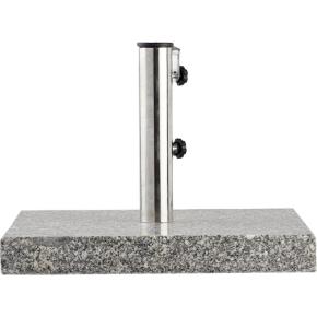 Outfit parasolfod i grå granit, 47x47 cm, 40 kg