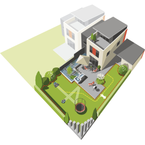 Gardena Robotplæneklipper R40Li, op til 400 m2