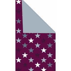 Gavepapir Stars rød dobbeltsidet, 57 cm x 154 m