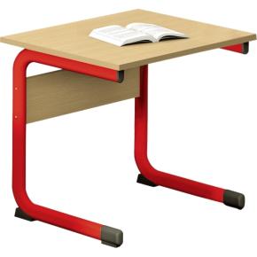 Class enkelt bord rød, size 3