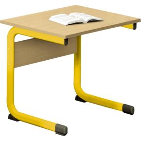 Class enkelt bord gul, size 6
