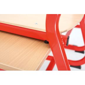 Class dobbelt bord rød, size 6