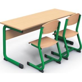 Class dobbelt bord grøn, size 3