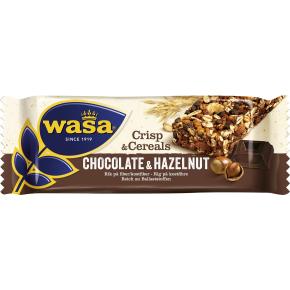 Wasa Crips & Cereals hasselnød og chokolade, 35 g