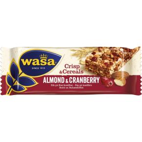 Wasa Crips & Cereals mandel og tranebær, 35 g