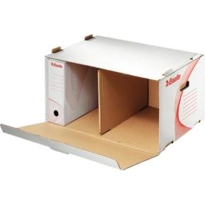 Esselte arkivboks, container med låg, front åben