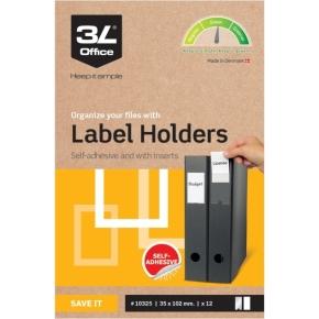 3L indstikslomme, 35x102mm, selvklæbende, 12stk