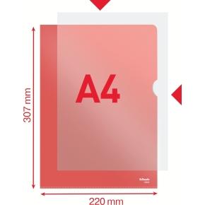 Esselte Copysafe omslag, A4, 0,11mm, 100stk, rød