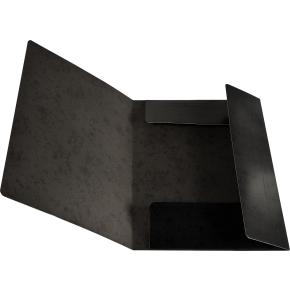 Budget elastikmappe, karton, sort