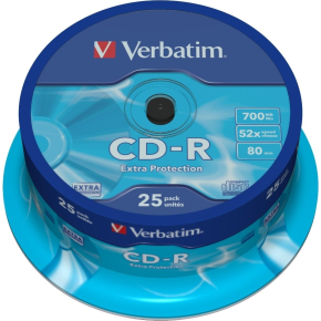 Verbatim CD-R 700mb/80min spindel, 25stk