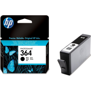 HP nr.364/CB316EE blækpatron, sort, 250s.