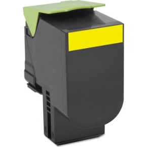 Lexmark 80C2HYE lasertoner, gul, 3000s