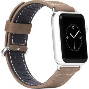 Hoco Læderrem til Apple Watch, 42mm, brun