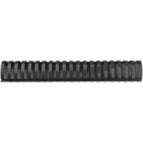 GBC Plast Spiralryg A4, 21 ringe, 45mm Oval, sort