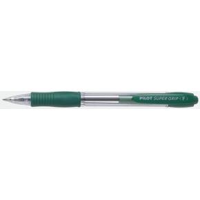 Pilot SuperGrip kuglepen, fine grøn