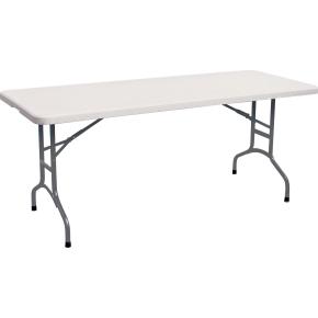 Park klapbord L150xB76xH74 cm, hvid/grå