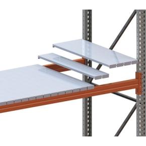 META palle stålhylde, 330x80 mm, Galvanis