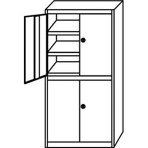META Clip skab 2x1/2 låge,200x100x50,Grund,Pulver