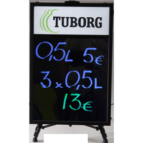 Lightsign A1 LED lysskilt til væg - inkl. logobox