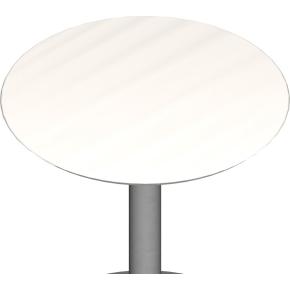 Jazz bordplade, ø 700 mm, hvid laminat