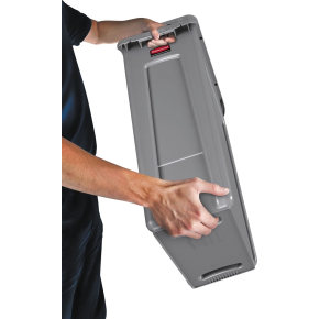 Rubbermaid Slim Jim affaldsbeholder, 87 liter, Grå