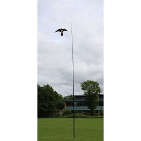 Fugleskræmmer sæt - 10 meter teleskopstang og fugl