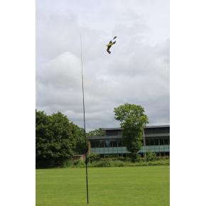 Fugleskræmmer sæt - 7 meter teleskopstang og fugl