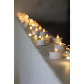 Lone LED fyrfadslys, Hvid, 6 stk.