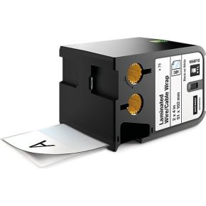 Dymo XTL, kabeltape, 51x102mm, sort på hvid