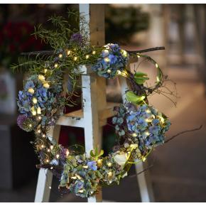 Flora lyskæde til blomsterdekorationer, Grøn