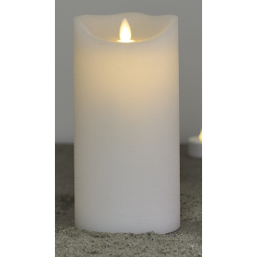 Sara LED vokslys, Hvid, Ø.10 cm, H.20 cm