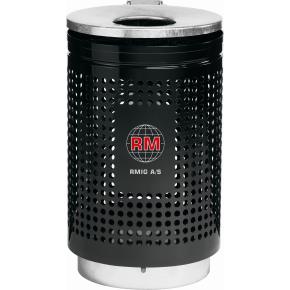 RMIG affaldsspand type 823U, sort blank