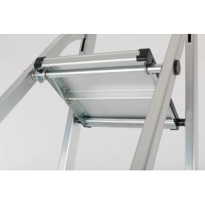 Trappestige 6 trin, aluminium, højde 128 cm