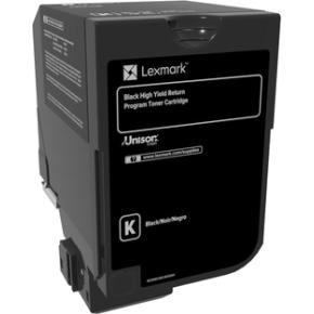 Lexmark 74C2HK0, Lasertoner, Sort, 20.000s